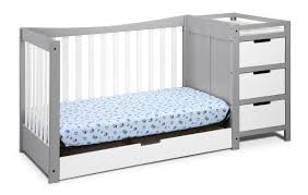 4 In 1 Convertible Crib by Graco Remi 4 In 1 Convertible Crib And Changer Pebble Gray White