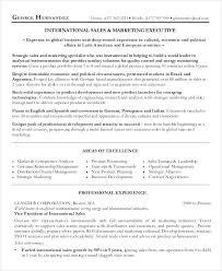 sample marketing executive resume international sales marketing