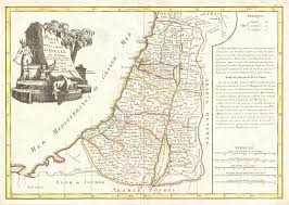 Map Of Isreal File 1770 Bonne Map Of Israel Showing The Twelve Tribes