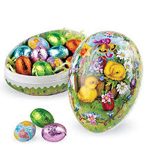 easter candy eggs fashioned papier mâché candy filled decoupage egg