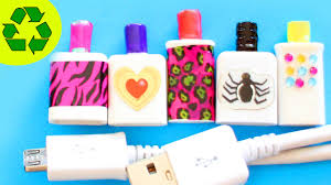 diy miniature perfume bottles with recycled iphone cables easy