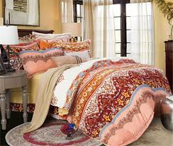 Orange Bed Sets Bohemian Bedding Sets Boho Bedding Sets Beachfront Decor