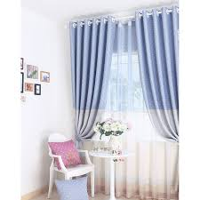 Baby Blue Curtains Discount Baby Blue Polyester Blackout Curtains