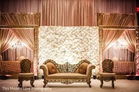 indian wedding decorators in atlanta ga sweetheart stage in atlanta ga wedding by this modern