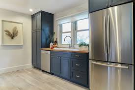 are blue cabinets trendy kitchen trend navy blue cabinets mcgillivray
