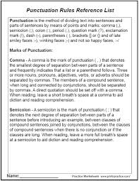 punctuation worksheets rules to decorate sentences