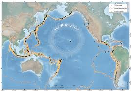 Map Of Oceans The Ring Of Fire Earth Observatory Of Singapore