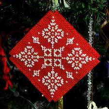 counted cross stitch tree ornament pattern