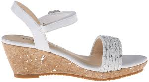 amazon com nine west edie wedge fashion sandals little kid big