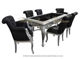 remarkable silver dining table and chairs excellent home design