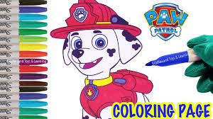 nickelodeon marshall paw patrol coloring page fun coloring