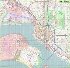 San Francisco Zoo Map by San Diego Maps California U S Maps Of San Diego