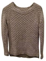 banana sweater banana republic gray stitch crew knit yarn sweater