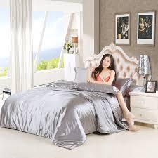 online shop parkshin silk satin bedding set solid color bed linen