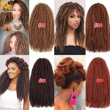 colors of marley hair afro kinky twist hair crochet braids 12 colors ombre marley braid