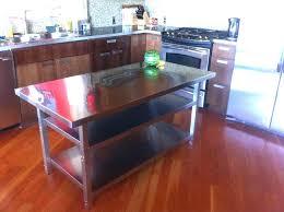 kitchen island stainless steel top stainless steel kitchen island biceptendontear