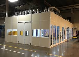 Paint Room In Plant Office Photos Portable Office Building Partitions Starrco