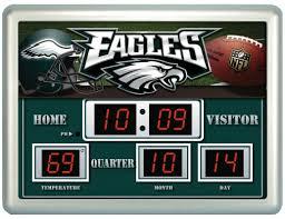 philadelphia eagles home decor philadelphia eagles clock 14