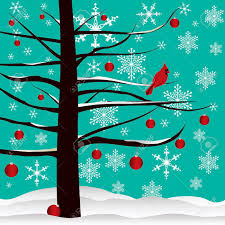 tree background designed with cardinal