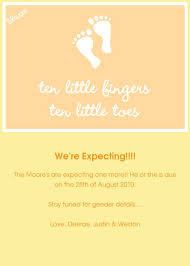 pregnancy announcement invitations cards by pingg