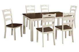 Ashley Furniture Farmhouse Table by Woodanville Dining Room Table And Chairs Set Of 7 Ashley