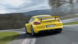 porsche cayman yellow 2016 porsche cayman gt4 yellow rear hd wallpaper 4