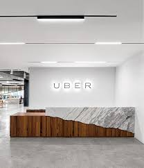 Designer Reception Desks Inside Uber Office In San Francisco Interior Design Offices