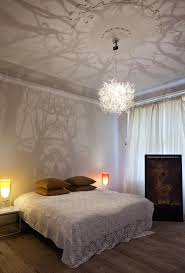 intricate chandelier casts mysterious forest scene on walls collect this idea bedroom forms in nature