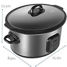 stoneware rice cooker homelabs 6 quart cooker pot digital programmable