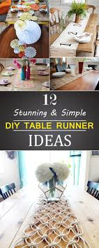 make your own table runner stunning and simple diy table runner ideas