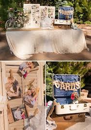Wedding Gift Table Ideas Rustic Mountain Wedding