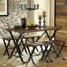 dining room table and bench furniture triangle dining table with bench ashley dinette sets