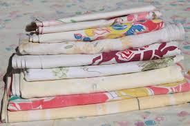 vintage print cotton tablecloths retro 40s 50s kitchen tablecloth lot