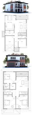narrow home floor plans narrow lot modern house plan floor plan from concepthome com