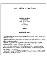 Senior Staff Accountant Resume Sample by 33 Accountant Resumes In Doc Free U0026 Premium Templates