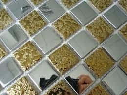 Ceramic Backsplash Tiles Home Improvement Gold Mix Silver Ceramic Mosaic Backsplash Tile