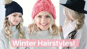 Simple N Easy Hairstyles by Easy Hairstyles For Winter Hats And Scarves Hair Tutorial