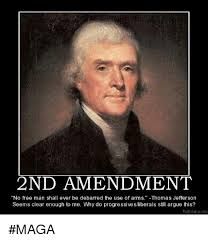 2nd Amendment Meme - 2nd amendment no free man shall ever be debarred the use of arms