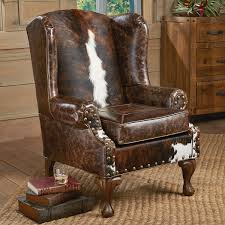 Cow Leather Sofa Santa Fe Wing Back Chair