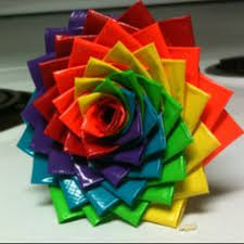 Duct Tape Flowers Vases And Pens Duct Tape Flower Pens Bright Colors Set Of Two Flowers Duct