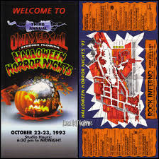 when was the first halloween horror nights hhn iii