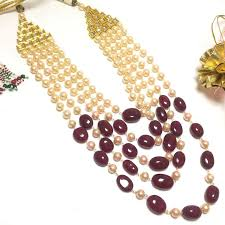 necklace designs with beads images Designer 5 layer beads necklace 1 set 24 39 inches JPG
