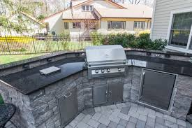 new granite countertop outdoor kitchen