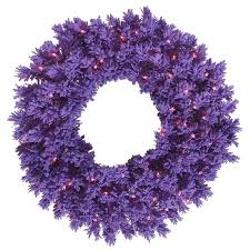vickerman 24 flocked purple fir artificial wreath with