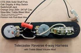 telecaster 4 way reverse wiring harness cts sprague treble bleed