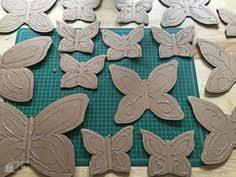 diy butterfly garden ornament gardens lawn ornaments and garden