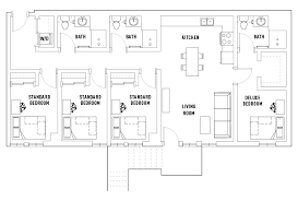 bathroom floor plan 4 bedroom 3 bathroom floor plans hub flagstaff student