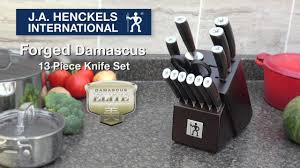 Damascus Kitchen Knives For Sale by Henckels International Forged Damascus Knife Set 13 Pc Canadian