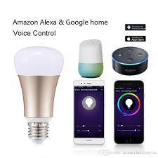 google home automation lights wifi smart bulb work with alexa google home e27 b22 home automation