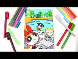 powerpuff girls coloring book bubbles blossom buttercup ppg ppgz